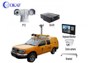 China Infrared HD Auto Vehicle PTZ Camera 360 Degree Rotation 4G Dynamic Forensic System on sale
