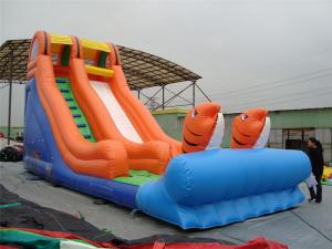 China Rotating Large Inflatable Water Slides With Inflatable Trampoline Jumping Bouncer on sale