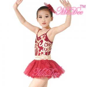 8c2ad737d Fancy Kids Dance Costumes Floral Sequin Dress Matching Tulle Tutu ...