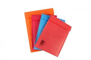 China Colored Red kraft bubble mailers , kraft padded envelopes for shipping mailing on sale