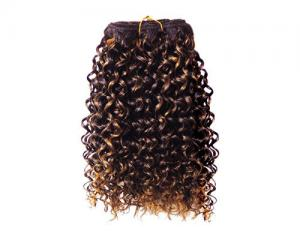 China Wholesale Beautiful Remy Inidian Human Hairpiece Afro Kinky Curl Human Hair Weft on sale