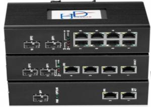 China Managed Din Rail Ethernet Switch / Industrial Fiber Optic Ethernet Switch on sale