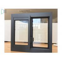 Aluminium Sliding Glass Windows Slim Aluminium Profiles Thin Frame Profiles Single Tempered Glass