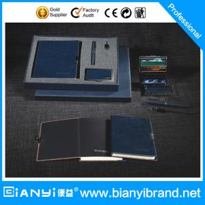 China Promotion PU Leather Office Stationery Gift Set on sale