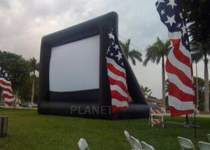 China Advertising Inflatable Outdoor Movie Screen , Inflatable Projector Screen on sale