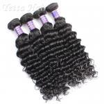 Модный глубокий курчавый камбоджийский Weave волос девственницы 14 дюйма - 16 дюймов