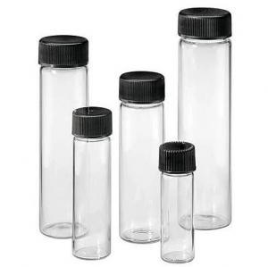 China Black  Phenolic Cap Neutral 4.5ml 1 Dram Glass Screw Top Vials on sale