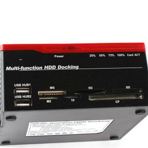 """Quality USB2.0 to 2.5 3.5""""IDE&SATAx2 three slots multi-function HDD docking station MH-HDS-893U2IS for sale"""