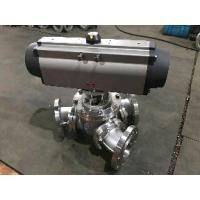 China aero2 pneumatic actuator air control  three way Y type ball valve on sale