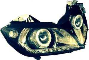 China LED HID Head Light Motorcycle Spare Parts Blue Lig Lens Headlamps YAMAHA YZF-R15 on sale