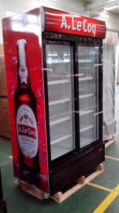 China fan cooling glass door cooler, upright display cooler, beverage cooler on sale