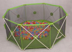 green mesh round babies playpens 8 panel baby play yard eco