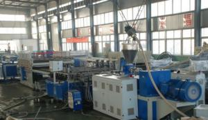 China WPC Deck Board Twin Screw Production Line , WPC Construction Board Extrusion Line on sale