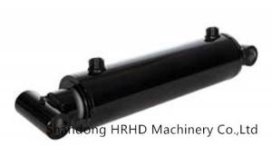 China Small double acting welded hydraulic cylinder with bushing ends on sale