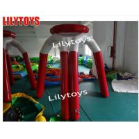 China Outdoor Lilytoys Huge Water Inflatable Games Float Basketball Ring Rent For Sea Swimming Pool on sale