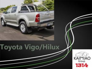 China Toyota Hilux / Vigo Electric Side Steps , Black Auto Truck Running Boards on sale