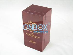 China Твердый случай деревянного спирта в высокой картине лоска, логосе выгравировал коробку вина on sale