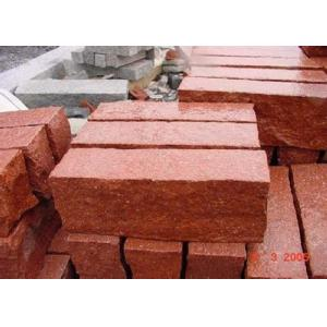 China Red Natural Paving Stones Tile For Stair Steps / Countertop Granite Material on sale