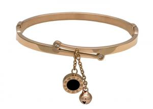 China 2019 New Luxury Brand Jewelry Roman Number Bracelet Bangle Round Charm Bangle on sale