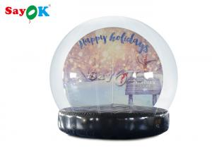China PVC Christmas Ornaments Inflatable Snow Globe For Outdoor Advertising on sale