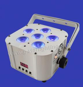 China Battery/Wireless 6PCS 6IN1 RGBWA+UV LED PAR LIGHT/led par cans/ stage lighting/ wendding light/ indoor lights on sale