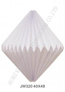 China Popular Folded Paper Lampshade Lantern For Room Lights Origami Pendant Light on sale