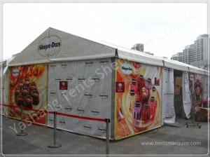 China Custom Aluminum Frame Printed Fabric Tent Structures , Corporate Event Tent on sale