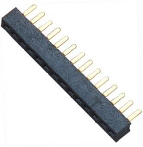 China 15 pin Female Header Connector Single Row Straight DIP for Automobile on sale