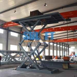 3T 5 6M Hydraulic Scissor Car Lift For Home Garage Portable