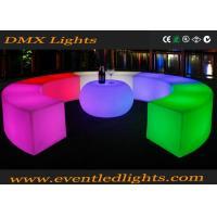 Modern Bar Nightclub Furniture Lighted Up Illuminated Apple Shape Bar Table