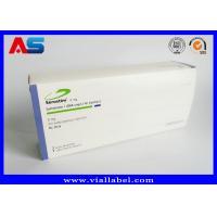 Custom Pharmaceutical Packaging Boxes Somatropin Pharma Box For 10pcs 2ml Amp Vials With Plastic Trays