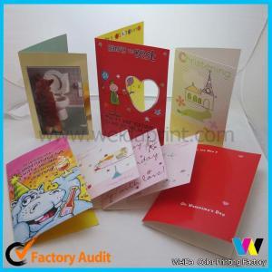 China Professional Greeting Custom Card Printing For Birthday / Wedding / Christmas on sale