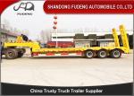 40 ton Gooseneck Lowbed semi Trailers low load truck trailer sale Three axle