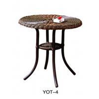 Castaluminumoutdoordining set modern Glass Furniture Popular  (YOT-4)