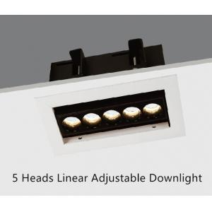 China Adjustable LED Recessed Downlight LED Linear Downlight 5 Heads 10.5W on sale