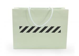 China Green Recyclable Personalised Paper Bags , Kraft Paper Bags With Handles on sale