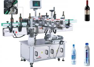 China Two / One Side Sticker Label Applicator Glass / Plastic Bottes Labeller Equipment on sale