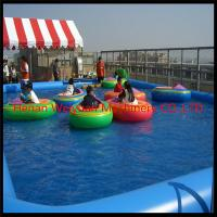 popular blue color inflatable PVC water pool fo paddle boats