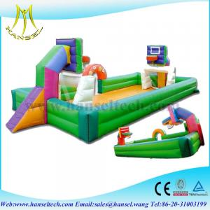 China Hansel Indoor table Inflatable football soap court with bottom sheet for amusement park on sale