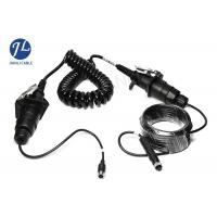 Waterproof Curly Spiral Power Cord 7 Pole For Video Audio Power Signal Transmission