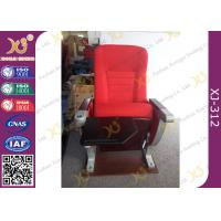 University Furniture Floor Mounted Top Aluminum Base Conference Hall Chairs With Painted Back