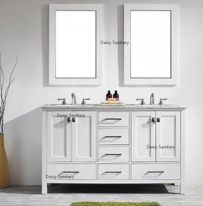 China One - Piece Ceramic Basin Marble Top Bathroom Vanity Simple And Elegant Design on sale