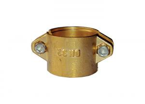 China Forged Brass Hose Clamps Double Piece With Stainless Steel Screw Lock on sale