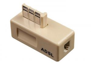 China 6P2C Isolates Modem 2 Pin Telephone Accessories , Telephone ADSL Filter on sale