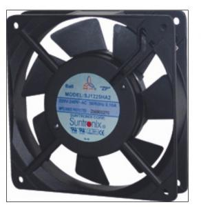 China 80mm 38mm small axial tube fan with fan guard on sale