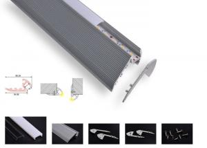 China Stair Lighting Led Aluminum Profile 6063 T5 Recessed Opal Cover 2m 3m Length on sale