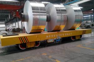 China Customized heavy duty V frame motorized rail  coil transfer car famous manufacturer on sale