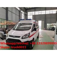 China 2020s high quality and low price FORD 4*2 LHD Transit gasoline Engine Ambulance car for sale, ambulance vehicle on sale
