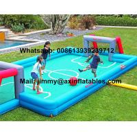 China Price Customized Kids Inflatable Soccer Field 0.9MM PVC Tarpaulin Commercial Inflatable Football Field For Sale