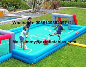 China China Price Customized Kids Inflatable Soccer Field 0.9MM PVC Tarpaulin Commercial Inflatable Football Field For Sale on sale
